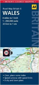 Wales Road and Tourist Map.