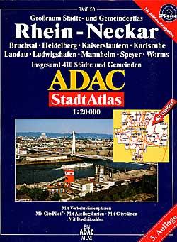 Mannheim (Rhein-Neckar) Street ATLAS, Germany.