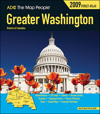 "Washington DC, ""Greater"" Metropolitan Street ATLAS, America."