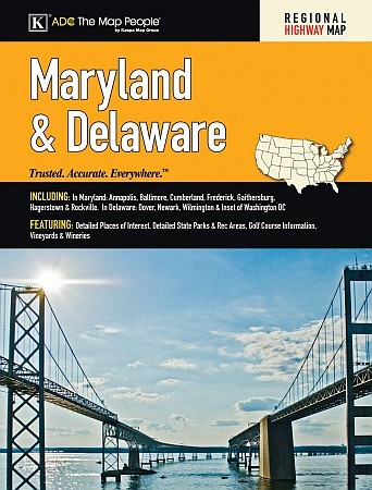 Delaware & Maryland Road Atlas, America.