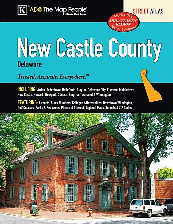New Castle County Street ATLAS, Delaware, America.