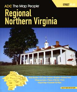 Virginia, Northern Regional, Street ATLAS, Virginia, America.