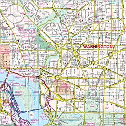 Washington DC Metro Street ATLAS, America.