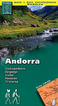Andorra Road and Topographic Tourist Map.