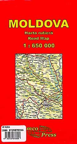 Moldova Road and Tourist Map.
