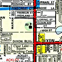 Brevard and Indian River Counties Street ATLAS, California, America.