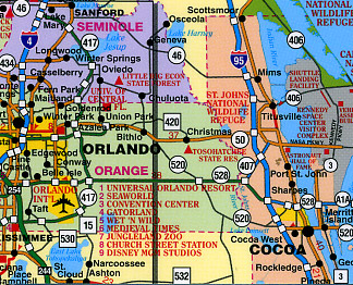"Florida ""StateSlicker"" Road and Tourist Map, America."