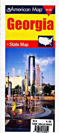 "Georgia ""Travelvision"" Road and Tourist Map, America."