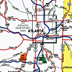 "Georgia ""StateSlicker"" Road and Tourist Map, America."