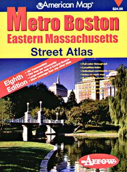 Massachusetts, EASTERN, Street ATLAS, Massachusetts, America.
