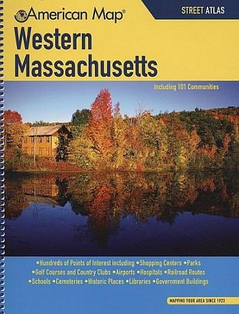 Massachusetts, WESTERN, Street ATLAS, Massachusetts, America.