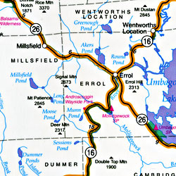 "New Hampshire ""StateSlicker"" Road and Tourist Map, America."