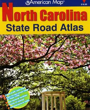 North Carolina Road and Tourist ATLAS, America.