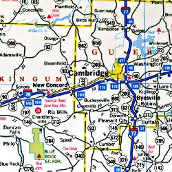 "Ohio ""StateSlicker"" Road and Tourist Map, America."