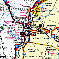 """Vermont """"StateSlicker"""" Road and Tourist Map, America."""