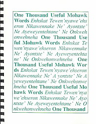 One Thousand Useful Mohawk Words Dictionary.