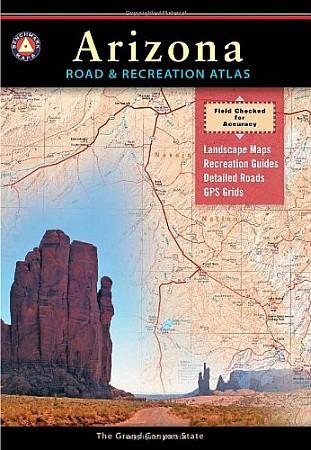 Arizona LAMINATED Road and Recreation Atlas, America.