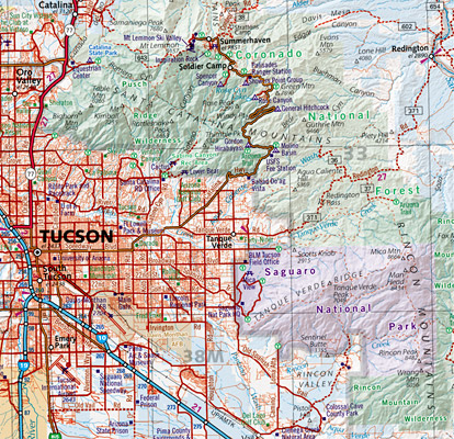 "Arizona ""Southeast"" Road and Recreation Map, America."