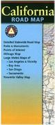 California Road and Recreation Map, America.