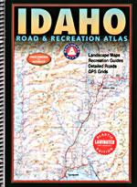 Idaho LAMINATED Road and Recreation Atlas, America.