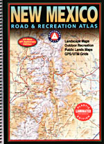 New Mexico LAMINATED Road and Recreation Atlas, America.