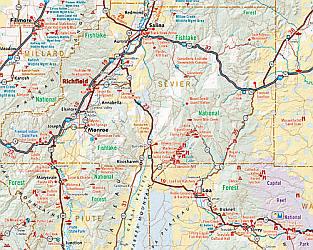 Utah LAMINATED Road and Recreation Atlas, America.