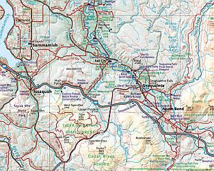 Washington State Road and Recreation Atlas, America.