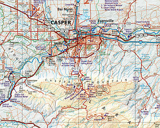 Wyoming Road and Recreation Atlas, America.