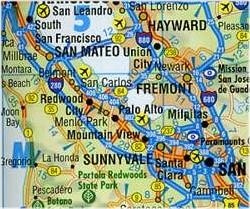 California South Road and Tourist Map.
