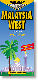 Malaysia (Western), Road and Tourist Map.