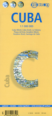 Cuba Road and Tourist Map.