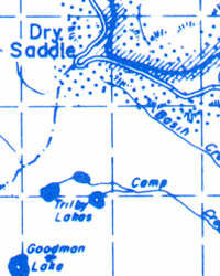 Idaho County Eastern Road and Outdoor Recreation Map, Idaho, America.