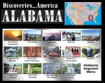 Discoveries: Alabama - Travel Video DVD.