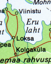 Baltic States, Road and Tourist Map.