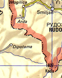 Thessalonica and Chalcidice Regional Road and Tourist Map, Greece.