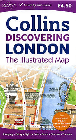 "LONDON ""Illustrated"" map England, United Kingdom."