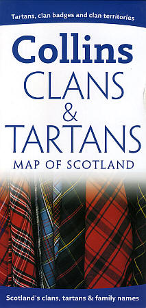 "Scotland ""Clans and Tartans"" Road and Shaded Relief Map."