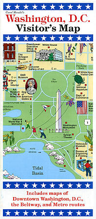 Washington, DC Visitor's Map, America.