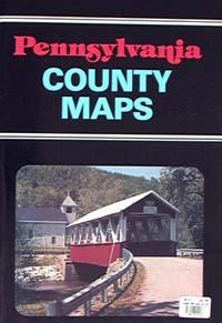 Pennsylvania COUNTY Tourist Road ATLAS, America.