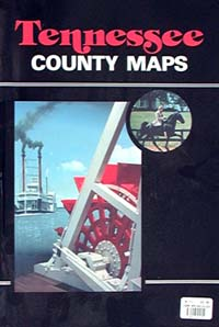 Tennessee Counties Tourist Road ATLAS, America.
