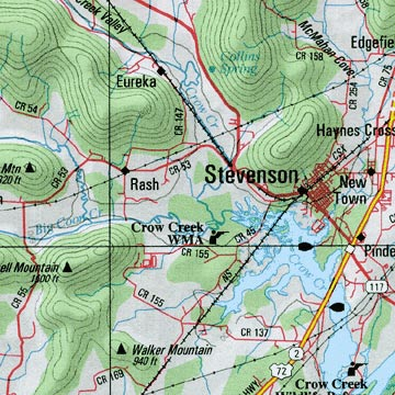 Alabama Road, Topographic, and Shaded Relief Tourist ATLAS and Gazetteer, America.
