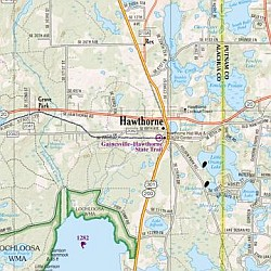 Florida State Road, Topographic, and Shaded Relief Tourist ATLAS and Gazetteer, America.