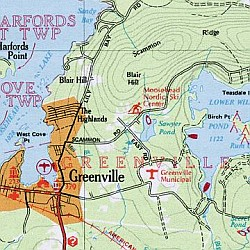 Maine Road, Topographic, and Shaded Relief Tourist ATLAS and Gazetteer, America.