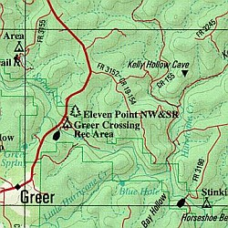 Missouri Road, Topographic, and Shaded Relief Tourist ATLAS and Gazetteer, America.