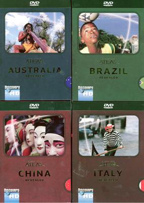 Discovery Atlas China: Revealed, Italy Revealed, Brazil Revealed, Australia Revealed - Travel Video.