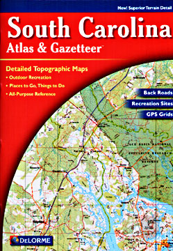 South Carolina Road, Topographic, and Shaded Relief Tourist ATLAS and Gazetteer, America.