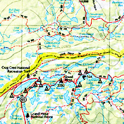 Colorado Road, Topographic, and Shaded Relief Tourist ATLAS and Gazetteer, America.