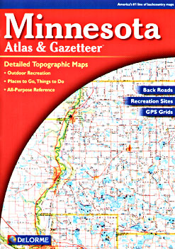 Minnesota Road, Topographic, and Shaded Relief Tourist ATLAS and Gazetteer, America.