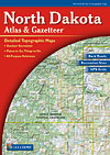 North Dakota Road, Topographic, and Shaded Relief Tourist ATLAS and Gazetteer, America.