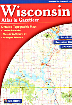 Wisconsin Road, Topographic, and Shaded Relief Tourist ATLAS and Gazetteer, America.